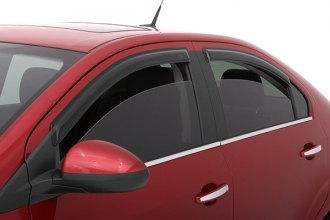 AVS® 94747 - Front and Rear Smoke Standard Ventvisor™ Window Deflectors