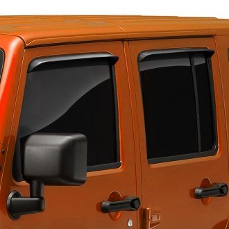 AVS® - In-Channel Ventshade™ Black Front and Rear Window Deflectors