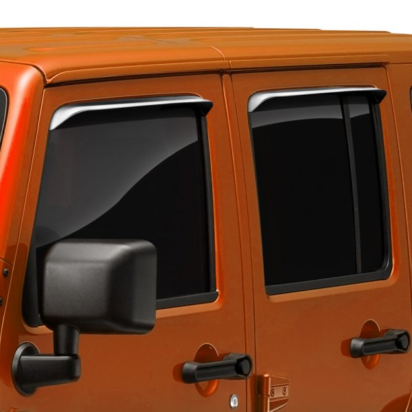 Image may not reflect your exact vehicle! AVS® - In-Channel Ventshade™ Stainless Steel Window Deflectors