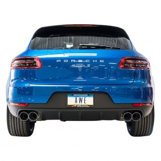 AWE Tuning® - Track Edition™ 304 SS Cat-Back Exhaust System with Quad Diamond Black Tips