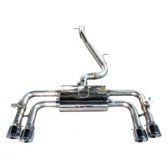 AWE Tuning® - SwitchPath™ 304 SS Cat-Back Exhaust System with Quad Rear Exit