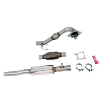 AWE Tuning® - 304 SS Resonated Downpipe with Metal Catalytic Converter