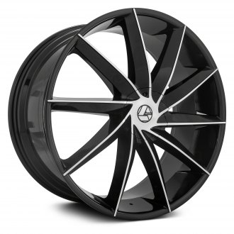 AZARA® - AZA-506 Gloss Black with Machined Face