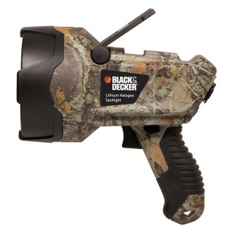 Black & Decker® - Lithium Ion Halogen Camo Rechargeable Spotlight