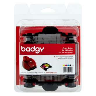 Badgy® - Color YMCKO Ribbon For 100 Prints