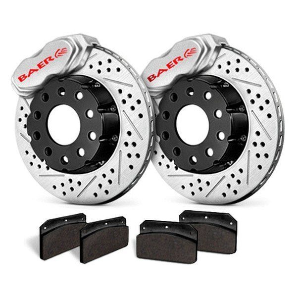 Baer® - SS4 Plus Deep Stage Front Brake System with Clear Calipers