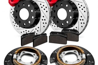 Baer® - SS4 Plus Deep Stage Drum-to-Disc Drilled and Slotted Conversion Brake System