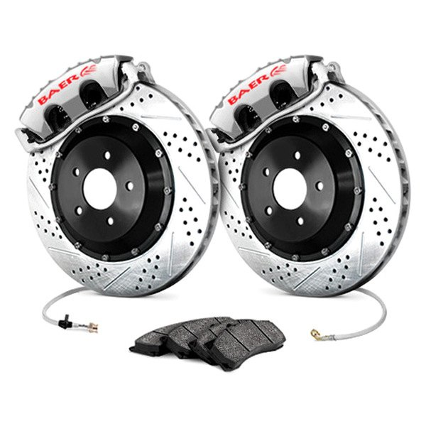 Baer® - GT Plus Front Brake System with Silver Calipers