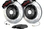 Baer® - Pro Plus Front Brake System with Black Calipers