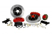 Baer® - Pro Plus Front Brake System with Red Calipers