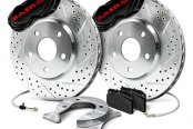 Baer® - SS4 Rear Brake System with Black Calipers
