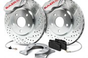Baer® - SS4 Plus Front Brake System with Silver Calipers