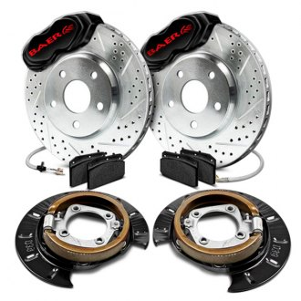 Baer® - SS4 Drum-to-Disc Drilled and Slotted Conversion Brake System