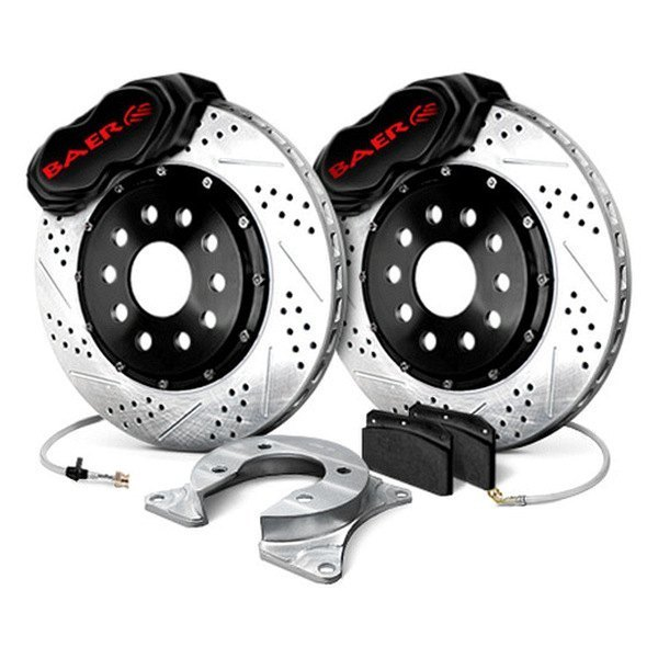 Baer® - SS4 Plus Front Brake System with Black Calipers