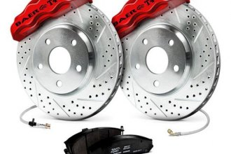Baer® - Track4 Front Brake System with Red Calipers