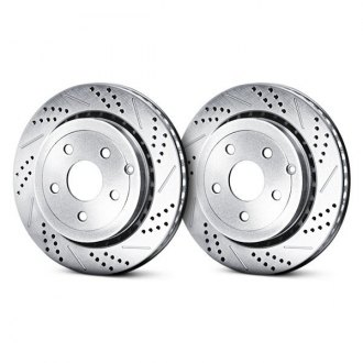 Baer® - Sport Decela Drilled and Slotted Vented 1-Piece Brake Rotors