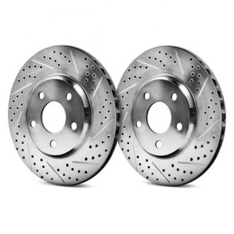 Baer® - EradiSpeed Plus 1 Drilled and Slotted 1-Piece Front Brake Rotors