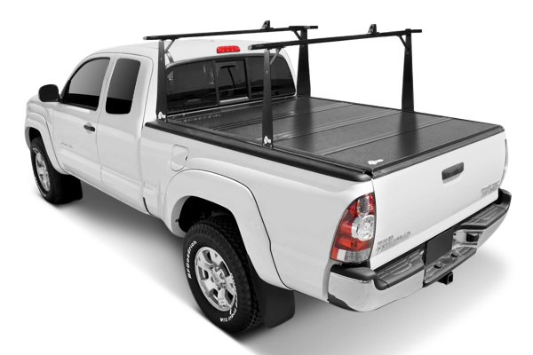 BAK® - BakFlip Folding Tonneau Cover, Closed with Rack System