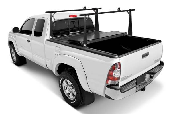 BAK� - BakFlip Folding Tonneau Cover, Mid Open with Rack System
