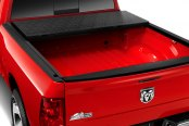 Image may not reflect your exact vehicle! BAK® - BAKFlip F1 Folding Tonneau Cover, Mid Open