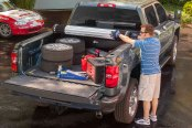 Image may not reflect your exact vehicle! BAK® - Revolver X2 Rolling Tonneau Cover In Use