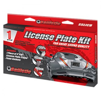 BALLISTIC® - Sound Suppression License Plate Kit, 1 Pc
