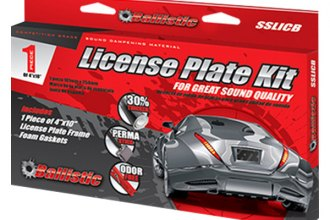 BALLISTIC® SSLICB - Sound Suppression License Plate Kit, 1 Pc