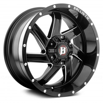 BALLISTIC® - 961 GUILLOTINE Gloss Black with Milled Accents