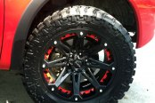 BALLISTIC® - JESTER Flat Black with Red Inserts on Nissan Titan