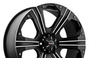 "BALLISTIC® - OUTLAW Flat Black with Machined Accents (20"" x 9"", +30 Offset, 5x150 Bolt Pattern, 112mm Hub)"