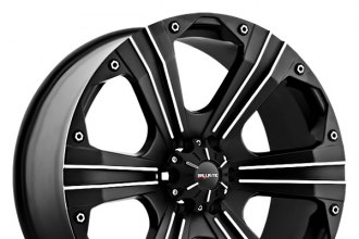 "BALLISTIC® - OUTLAW Flat Black with Machined Accents (20"" x 9"", +15 Offset, 6x139.7 Bolt Pattern, 110mm Hub)"