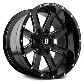 BALLISTIC® - RAGE Gloss Black with Milled Windows