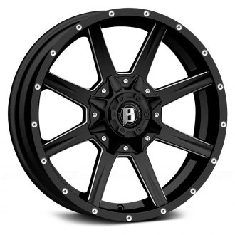 BALLISTIC® - RAZORBACK Gloss Black with Milled Window