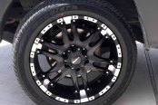 BALLISTIC® - WIZARD Flat Black with Machined Flange on Toyota Tacoma