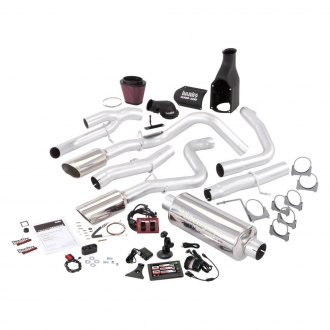 Banks® - Six-Gun™ Stainless Steel Single Exhaust System with Dual Rear Exit