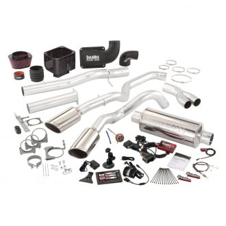 Banks® - Six-Gun™ Stainless Steel Single Exhaust System with Dual Exit