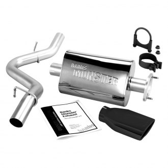 Banks® - Monster™ Stainless Steel Single Cat-Back Exhaust System with Single Rear Exit
