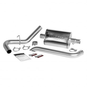 Banks® - Monster™ Stainless Steel Single Exhaust System with Single Rear Exit