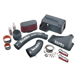 Banks® - Plastic Black Short Ram Air Intake System with Oiled Red Filter