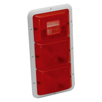 Bargman® - 84 Series Recessed Triple Vertical Tail Light with Backup and Base