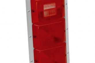 Bargman® - 84 Series Red Recessed Triple Vertical Tail Light with Back-Up and White Base