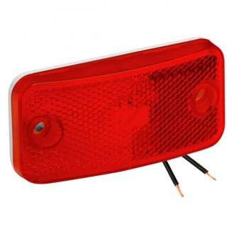 Bargman® - 178 Series Red Clearance Light with White Base