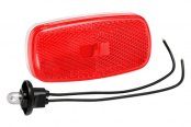 Bargman® - 59 Series Red Clearance Light with Reflex and White Base