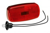 Bargman® - 59 Series Red Clearance Light with Reflex and Black Base