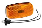 Bargman® - 59 Series Amber Clearance Light with Reflex and Black Base