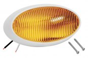 Bargman® - 79 Series Amber Porch Light with White 5 Series Base