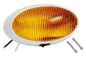 Bargman® - 79 Series Amber Porch Light with White 5 Series Base and Switch