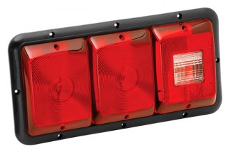 Bargman® - 84 Series Recessed Triple Red Horizontal Tail Light with Backup