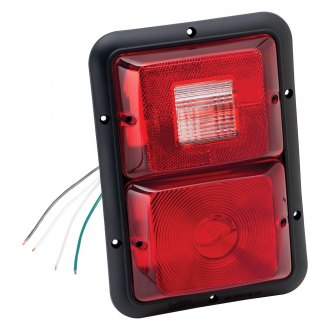 Bargman® - 84 Series Recessed Double Red Vertical Tail Light with Black Base