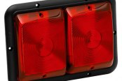 Bargman® - 84 Series Recessed Double Red Horizontal Tail Light with Black Base